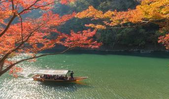 ทัวร์ญี่ปุ่น โอซาก้า เกียวโต 5 วัน 3 คืน ล่องเรือแม่น้ำฮาซุกาวะ สวนลิงอิวาตายาม่า บิน XW