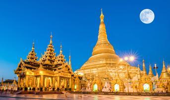 ทัวร์พม่า ย่างกุ้ง 2 วัน 1 คืน พระมหาเจดีย์ชเวดากอง พระพุทธไสยาสน์เจาทัตยี บิน DD