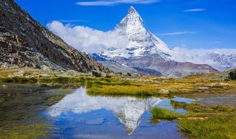 ทัวร์สวิตเซอร์แลนด์ เซอร์แมท 9 วัน 6 คืน อนุสาวรีย์สิงโต รถไฟโกลด์เดนพาส ทะเลสาบริฟเฟลซี บิน TG
