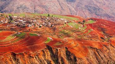 ทัวร์จีน คุนหมิง 4 วัน 2 คืน แผ่นดินสีแดง ภูเขาหิมะเจี้ยวจื่อ(รวมรถแบตเตอรี่และกระเช้า) บิน FD